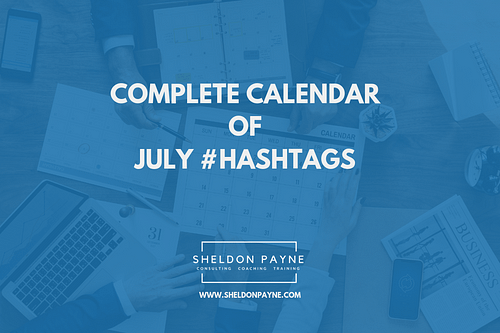 Complete Calendar of July Hashtags
