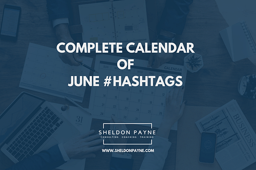 Complete Calendar of June Hashtags