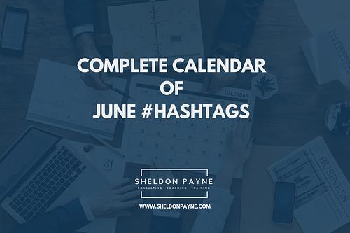 Complete Calendar of June Hashtags
