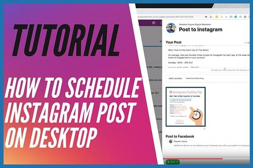 How to Schedule Instagram Post on Desktop with Facebook Creator Studio